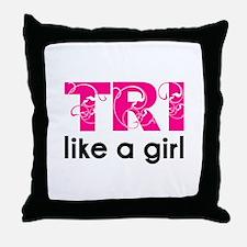 Funny Triathlons Throw Pillow