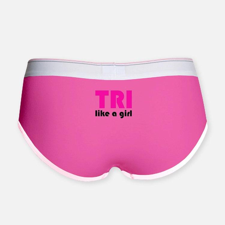 tri like a girl Women's Boy Brief