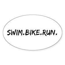 Swim. Bike. Run. Decal