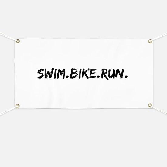 Swim. Bike. Run. Banner