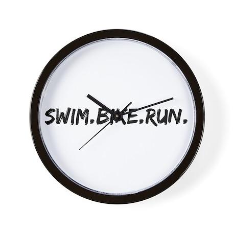 Swim. Bike. Run. Wall Clock