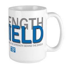 Strength Behind the Shield Large Mug