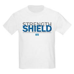Strength Behind the Shield Kids Light T-Shirt
