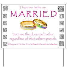 Gay Wedding Rings Yard Sign