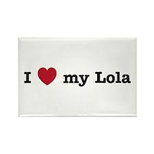 I Love My Lola Rectangle Magnet