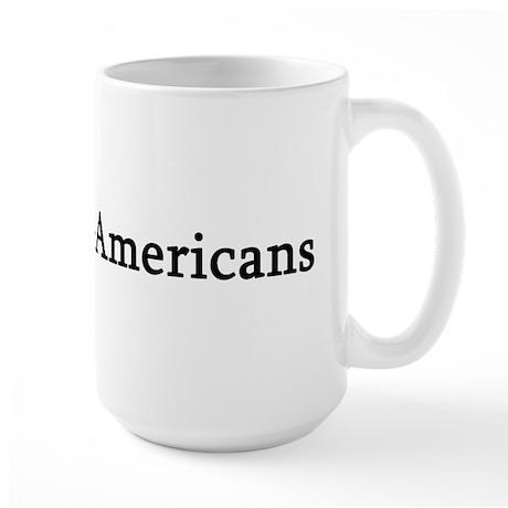 I Love Italian-Americans Large Mug
