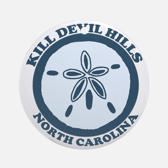 Kill Devil Hills NC - Sand Dollar Design Ornament