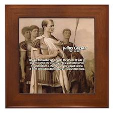 Julius Caesar Pictures Quotes Framed Tile