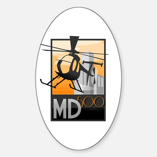 Helicopter Sticker (Oval)
