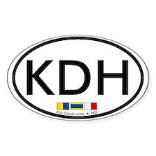 Kill Devil Hills NC - Oval Design Stickers