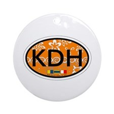 Kill Devil Hills NC - Oval Design Ornament (Round)