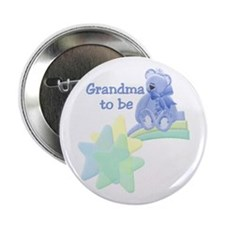 Grandma to Be Teddy Bear Button