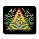 Masonic Acacia & S&C Black Mousepad