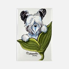 Platinum Skye Terrier Rectangle Magnet