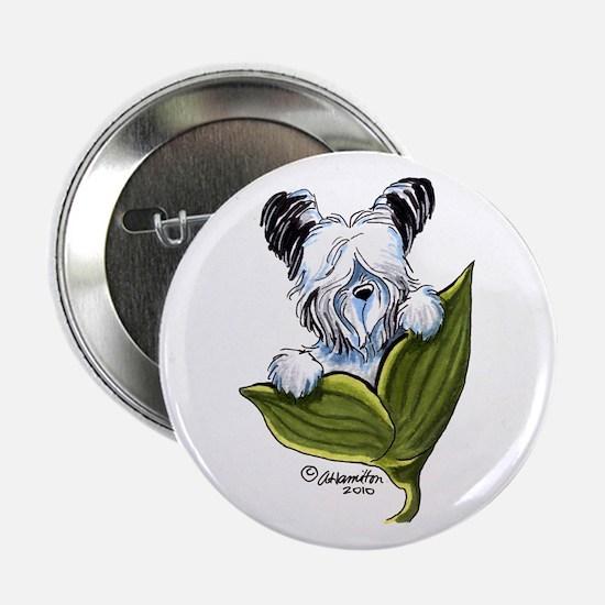 """Platinum Skye Terrier 2.25"""" Button"""