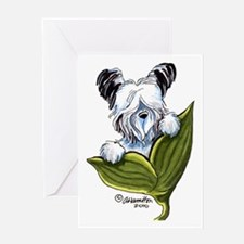 Platinum Skye Terrier Greeting Card