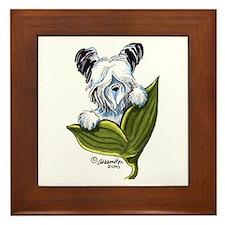 Platinum Skye Terrier Framed Tile