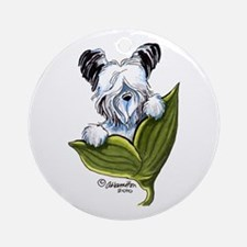 Platinum Skye Terrier Ornament (Round)