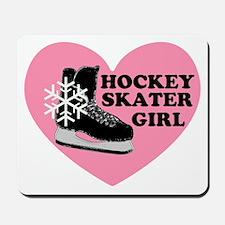 Hockey Skater Girl Ice Skate Mousepad