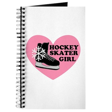 Hockey Skater Girl Ice Skate Journal