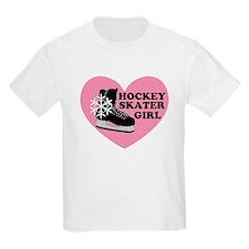 Hockey Skater Girl Ice Skate Kids T-Shirt