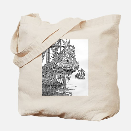 Cute The pirate king ship sail Tote Bag