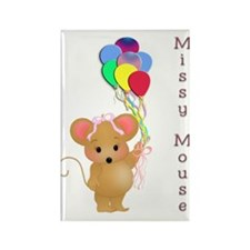 Miss Mouse Rectangle Magnet