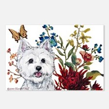 Westie Terrier in the Garden Postcards (Package of