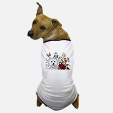 Westie Terrier in the Garden Dog T-Shirt