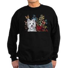 Westie Terrier in the Garden Sweatshirt
