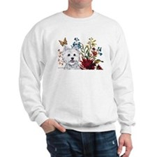 Westie Terrier in the Garden Sweatshirt