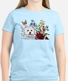 Westie Terrier in the Garden T-Shirt