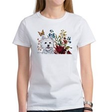 Westie Terrier in the Garden Tee
