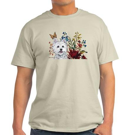 Westie Terrier in the Garden Light T-Shirt