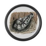 Nesting Pigeons Large Wall Clock