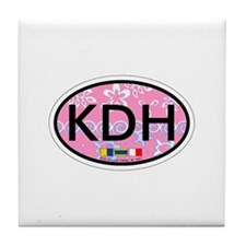 Kill Devil Hills NC - Oval Design Tile Coaster