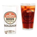 Funny boss Drinking Glass
