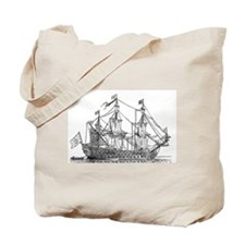 Unique Clipper ship Tote Bag