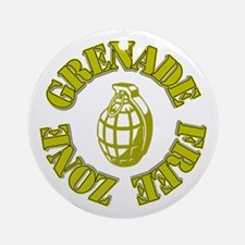 Grenade Free Zone Ornament (Round)