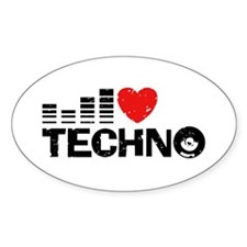 I Love Techno Decal