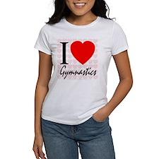 I Love Gymnastics Tee