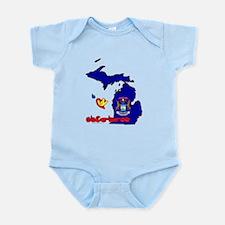 ILY Michigan Infant Bodysuit