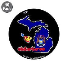 "ILY Michigan 3.5"" Button (10 pack)"