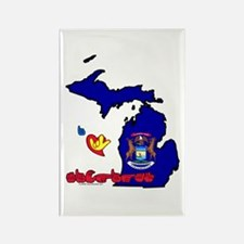 ILY Michigan Rectangle Magnet