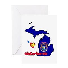 ILY Michigan Greeting Card