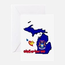 ILY Michigan Greeting Card