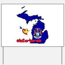 ILY Michigan Yard Sign