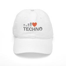 I Love Techno Baseball Cap