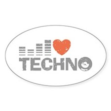 I Love Techno Decal