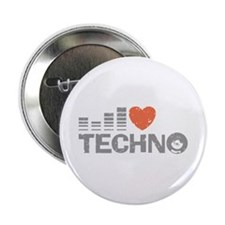 """I Love Techno 2.25"""" Button"""